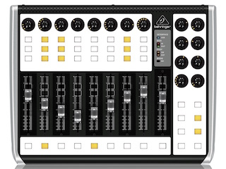 Behringer X-Touch Compact with white (blank) overlay